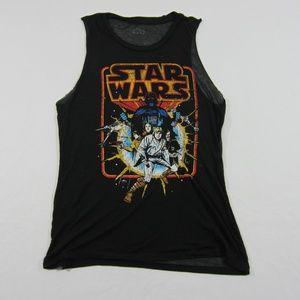 Star Wars x Fifth Sun Black Printed Graphic Tank M